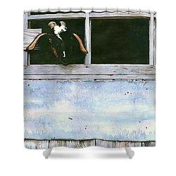 Bill's Goat Shower Curtain