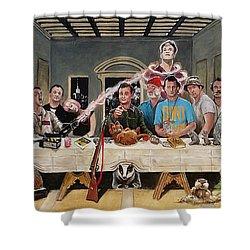 Bills Last Supper Shower Curtain