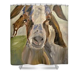 Shower Curtain featuring the painting Billy by Donna Tuten