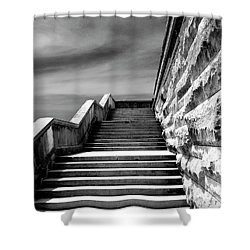 Biltmore Stairs Asheville Nc Shower Curtain by William Dey