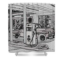 Bings Burger Station Cottonwood Arizona Shower Curtain by Janice Rae Pariza