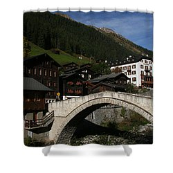 Shower Curtain featuring the photograph Binn by Travel Pics
