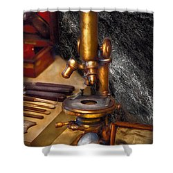 Biology - The Art Of Dissection Shower Curtain by Mike Savad
