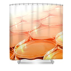 Biotechnology Experiment In Science Research Lab Shower Curtain by Olivier Le Queinec