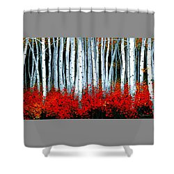 Shower Curtain featuring the painting Birch 24 X 48  by Michael Swanson