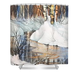 Birch Trio II Shower Curtain