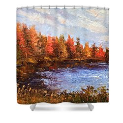 Birchwood Lake Shower Curtain by Jason Williamson