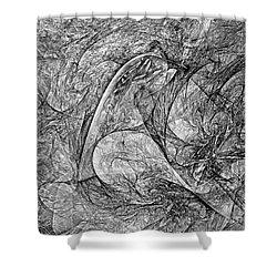 Bird B-w 625 - Marucii Shower Curtain