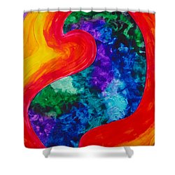 Shower Curtain featuring the painting Bird Form I by Michele Myers