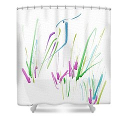 Shower Curtain featuring the digital art Bird In The Grass by Frank Bright
