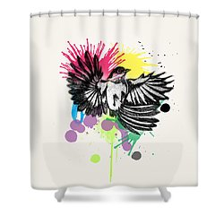 Bird Shower Curtain by Mark Ashkenazi