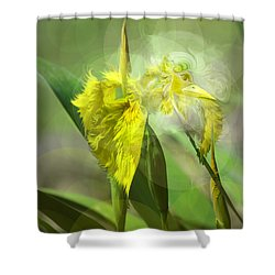 Bird Of Iris Shower Curtain by Adria Trail