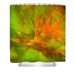 Bird Of Paradise Shower Curtain by Susan Schroeder