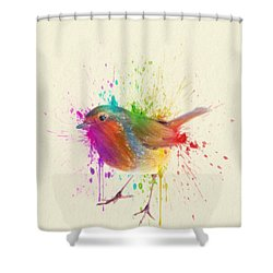 Bird Study Shower Curtain by Taylan Apukovska