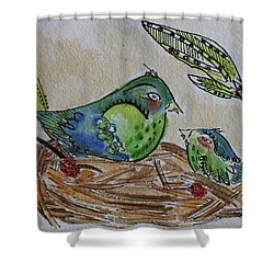 Bird Talk Shower Curtain