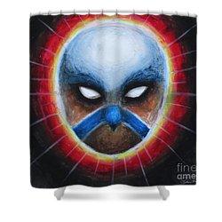 Bird Totem Mask Shower Curtain