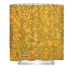 Bird Wallpaper Design Shower Curtain by William Morris