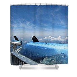 Shower Curtain featuring the photograph Bird Watch by Pema Hou