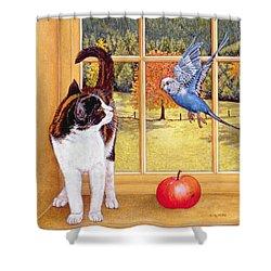 Bird Watching Shower Curtain by Ditz