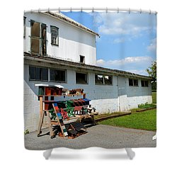 Birdhouses And Feeders For Sale Shower Curtain