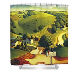 Birds Eye View Shower Curtain by Robin Moline