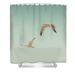 Birds Of A Feather Shower Curtain by Lucid Mood