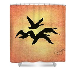 Birds Of Flight Shower Curtain