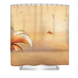 Birds Of Paradise In The Fog Shower Curtain by Angela A Stanton
