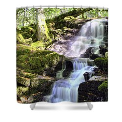 Birks Of Aberfeldy Cascading Waterfall - Scotland Shower Curtain by Jason Politte