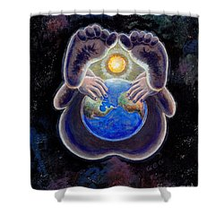 Birth Of The Earth Shower Curtain