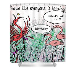 Birthday Dance Shower Curtain