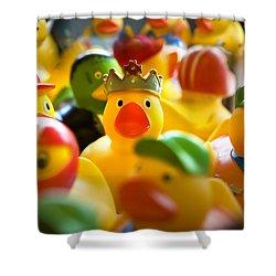 Birthday Ducks Shower Curtain