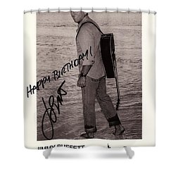 Birthday Wishes From Jimmy Buffett Shower Curtain