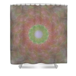 Birthing Mandala 1 Shower Curtain by Rhonda Barrett