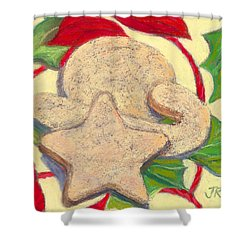 Biscochitos-nm State Cookie Shower Curtain by Julie Maas