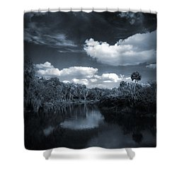 Bishop Harbor Shower Curtain by Phil Penne