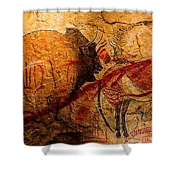 Bisons Horses And Other Animals Closer Shower Curtain