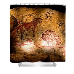 Bisons Horses And Other Animals Shower Curtain