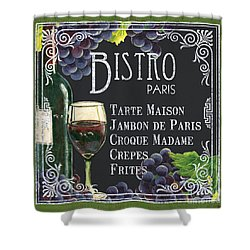 Bistro Paris Shower Curtain by Debbie DeWitt