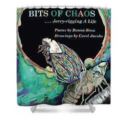 Bits Of Chaos Book Cover Shower Curtain