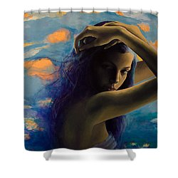 Bittersweet Shower Curtain by Dorina  Costras