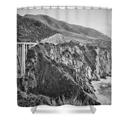 Bixby Overlook Shower Curtain by Heather Applegate