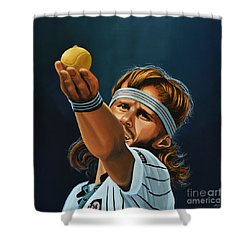 Bjorn Borg Shower Curtain by Paul Meijering