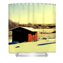 Black And Color Shower Curtain by Frozen in Time Fine Art Photography