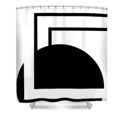 Black And White Art - 127 Shower Curtain