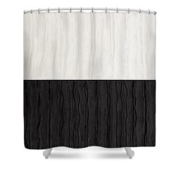 Black And White Attraction Shower Curtain by Margaret Ivory