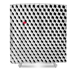 Black And White Cubes With One Red Cube. Shower Curtain