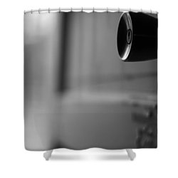 Black And White Door Handle Shower Curtain