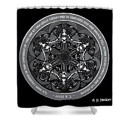Black And White Gothic Celtic Mermaids Shower Curtain