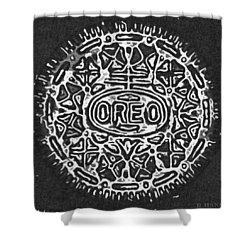 Black And White Oreo Shower Curtain